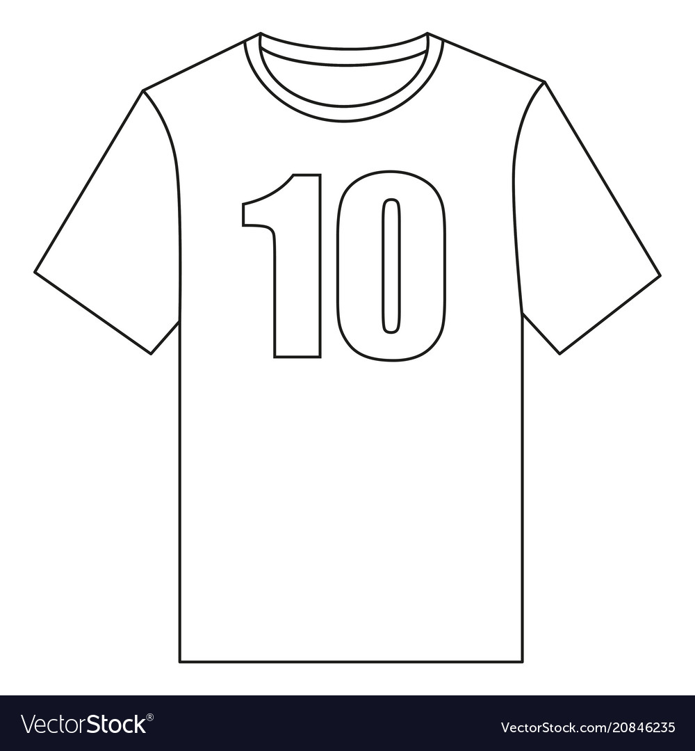 Line art black and white t-shirt