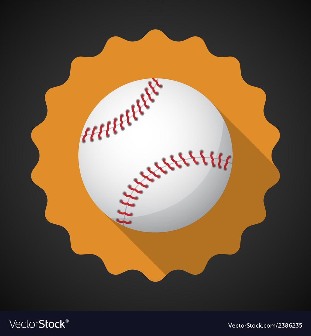 Sport Ball Baseball Flat icon background