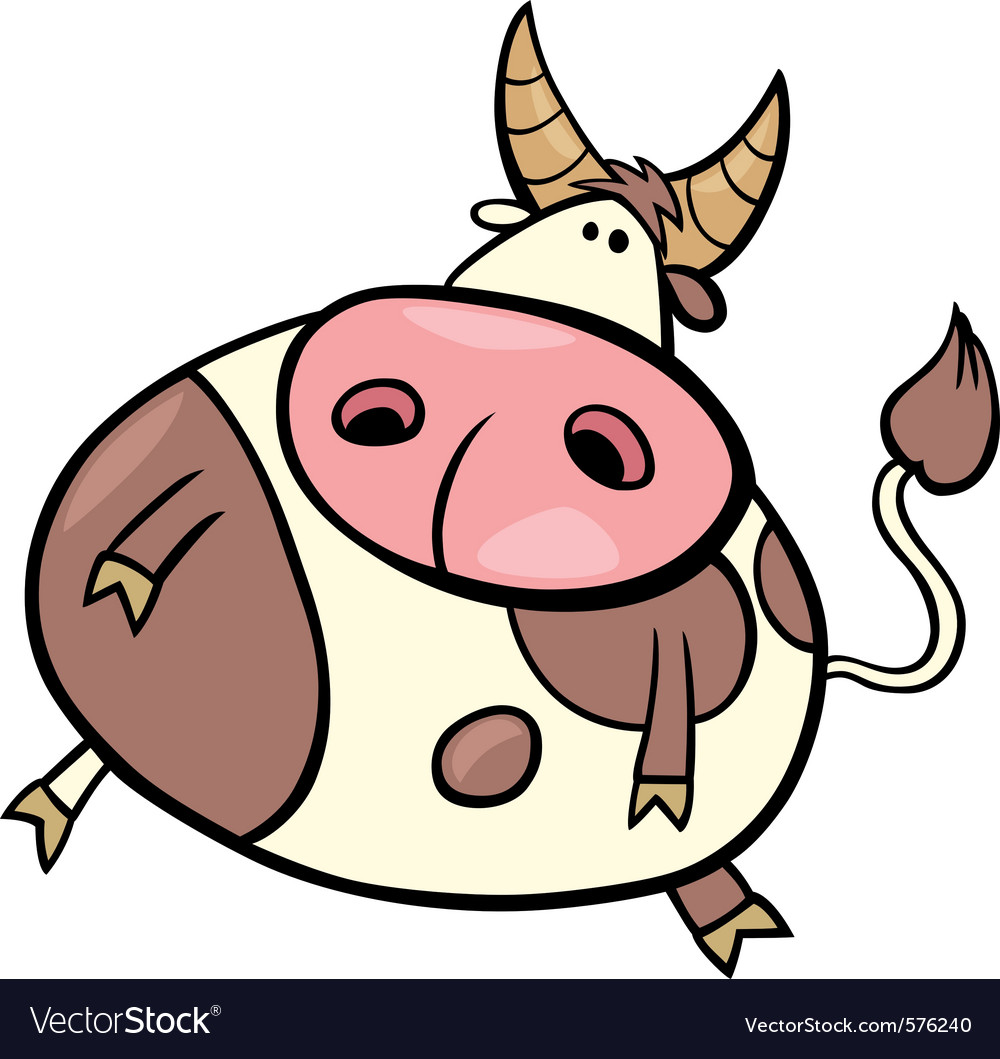 Cartoon of taurus zodiac sign