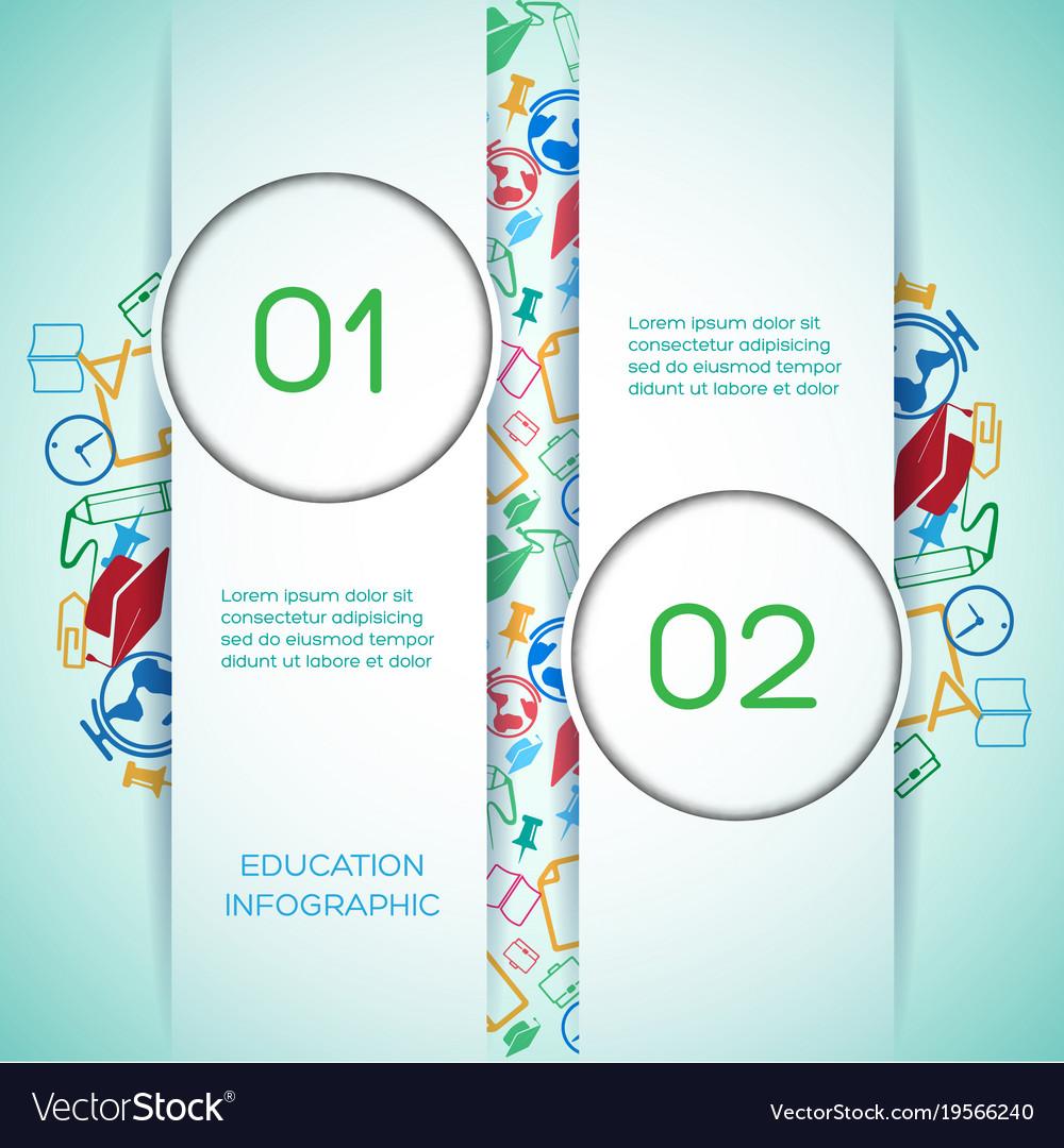 Educational school infographics