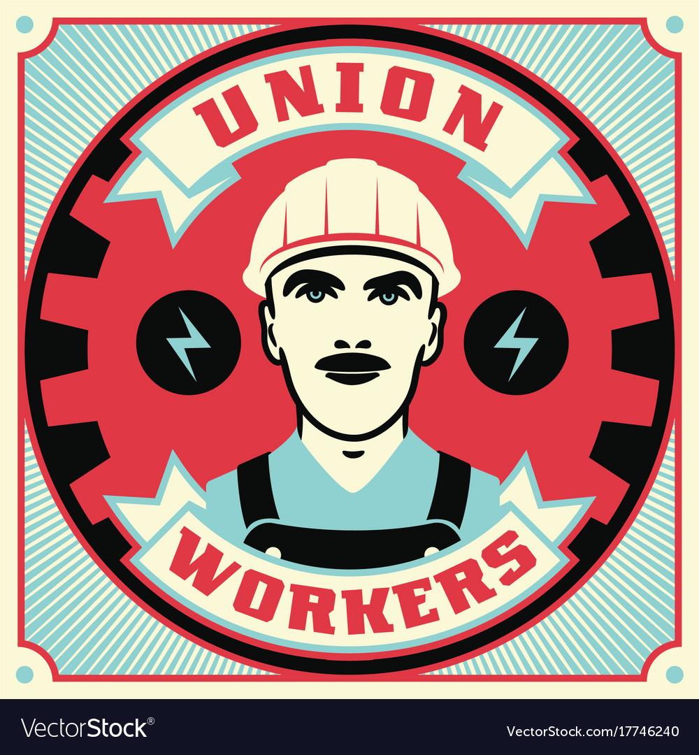 Trade union conceptual retro