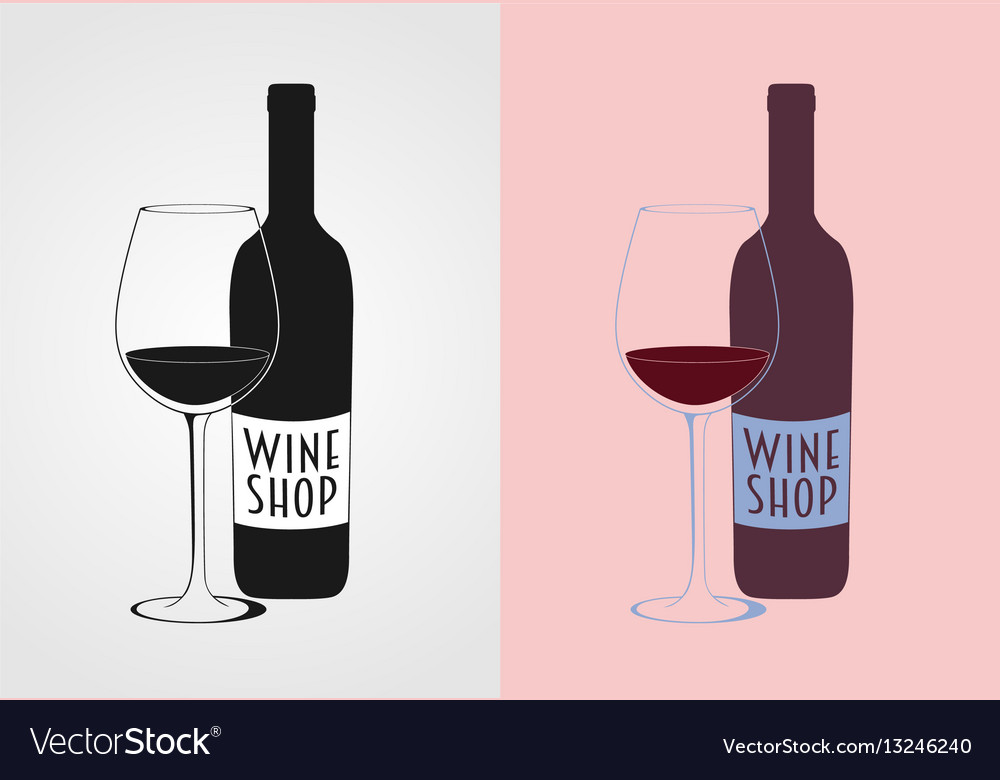 Wine logo concept badge or label