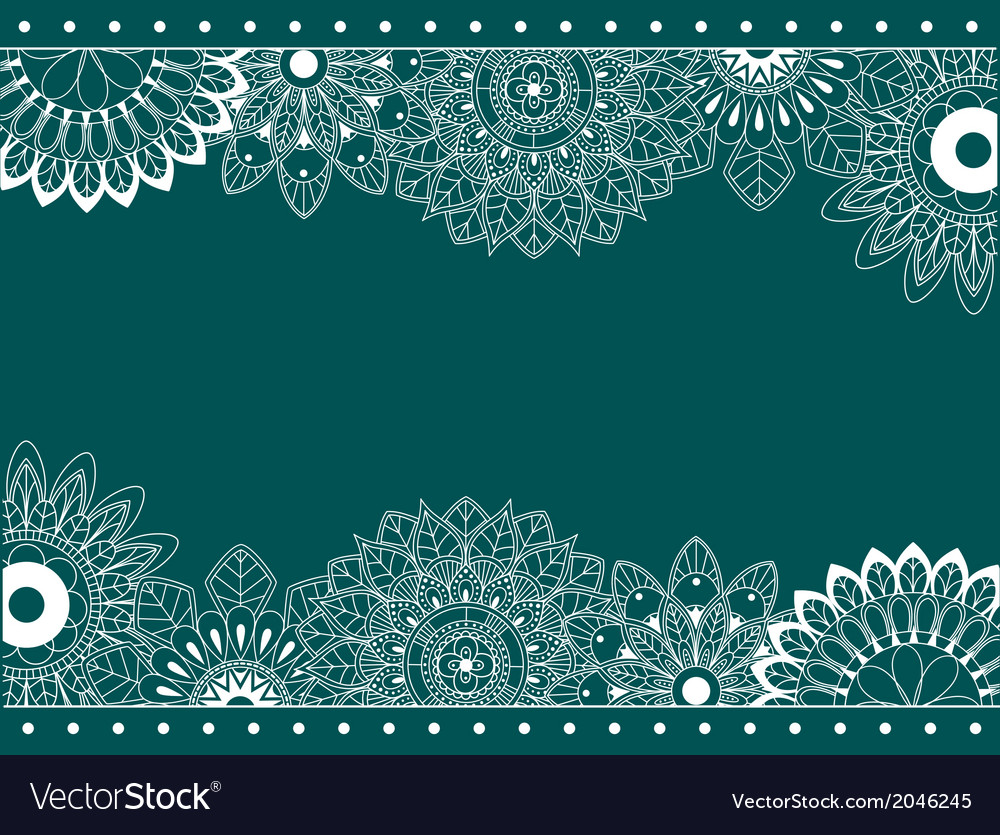 Border with abstract flowers