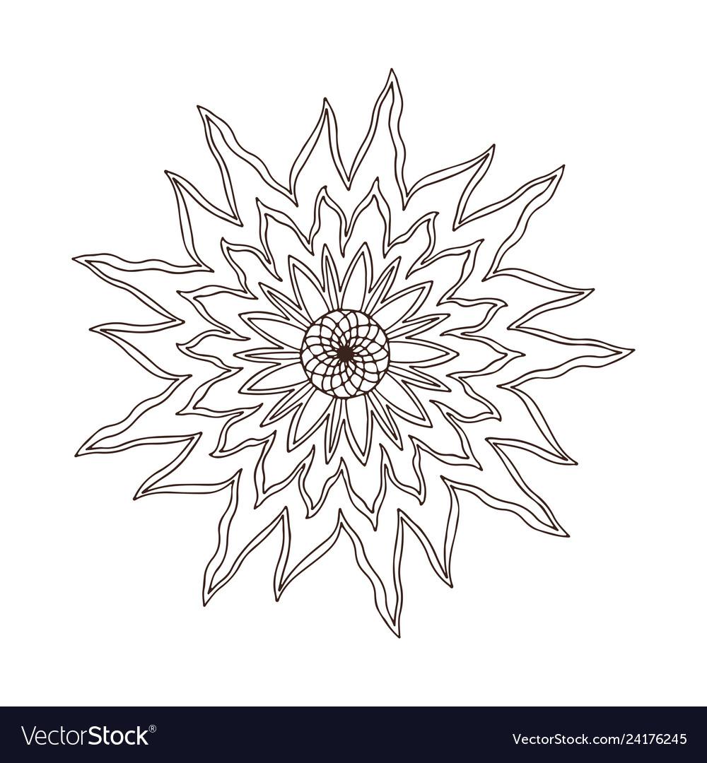 Fire flower mandala tattoo art design carpet