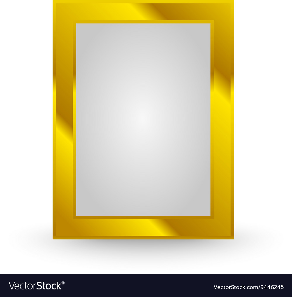 Gold frame isolated