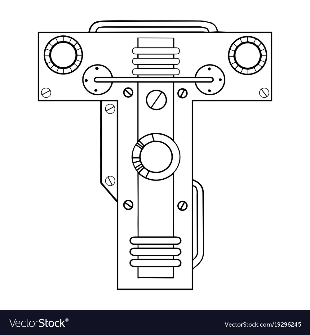 Mechanical letter t engraving