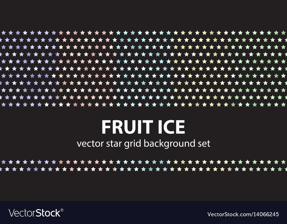 Star pattern set fruit ice seamless backgrounds