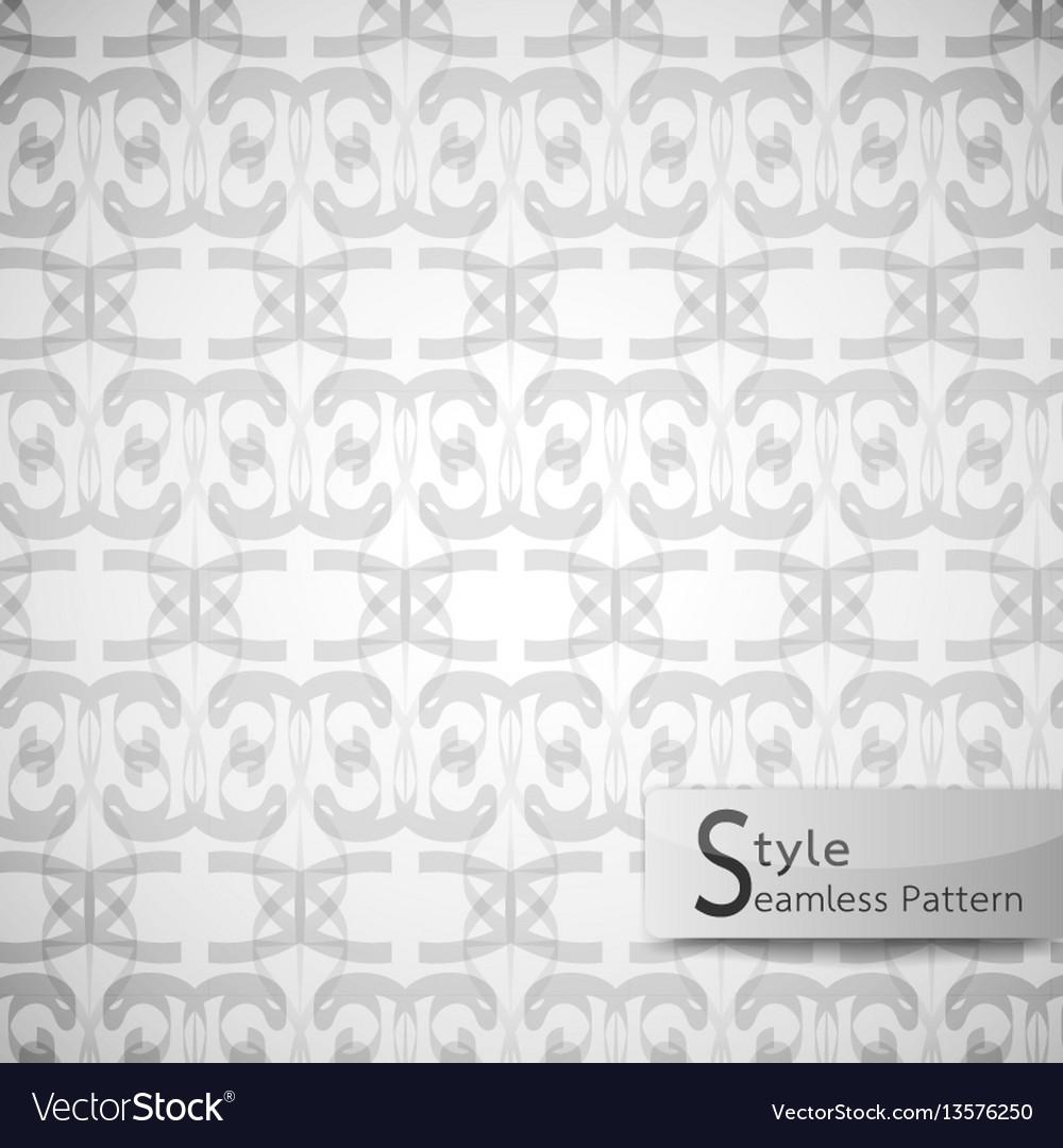 Abstract seamless pattern ribbon mesh white vector image