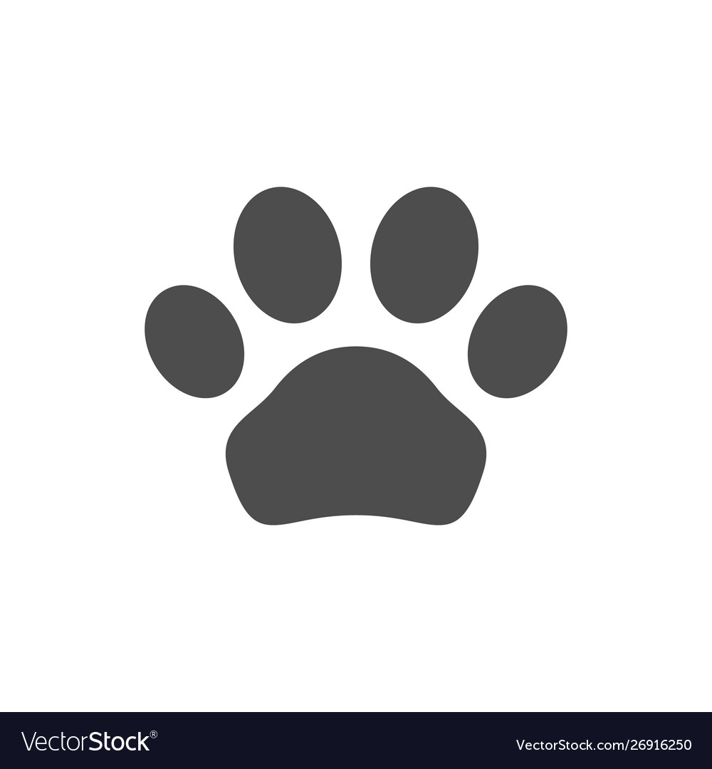 Animal paw icon and pet concept