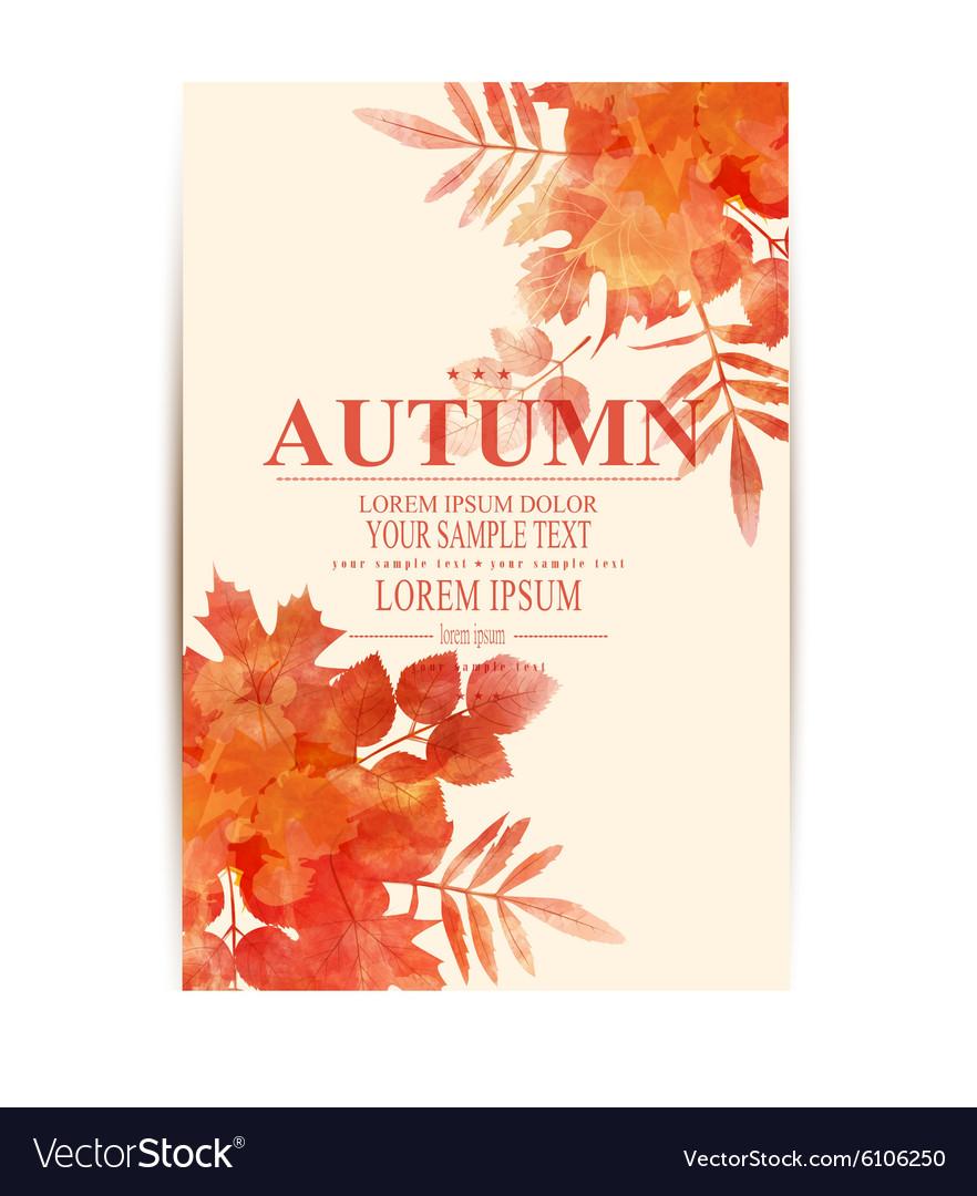 Autumn background with orange leaves imitation of