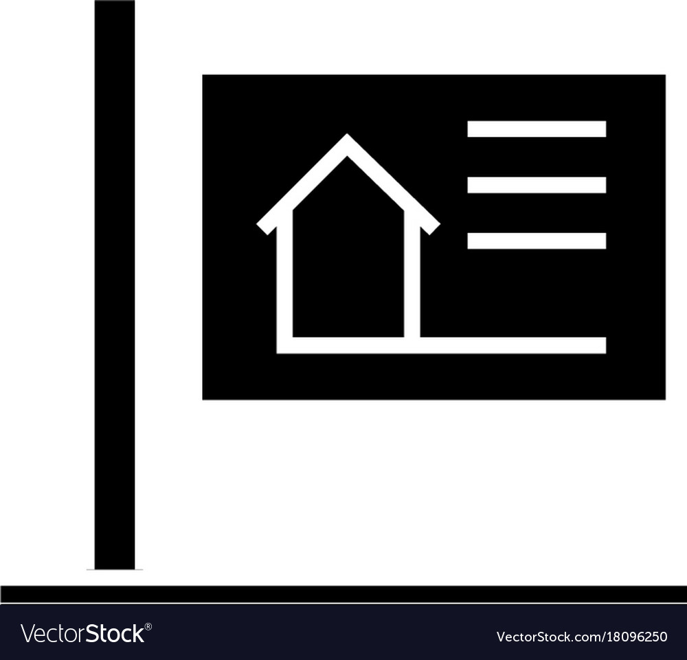 Billboard icon black sign on vector image