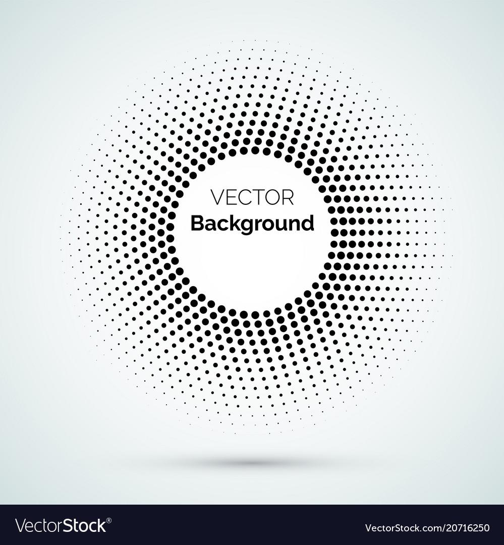 Circle dot halftone pattern background
