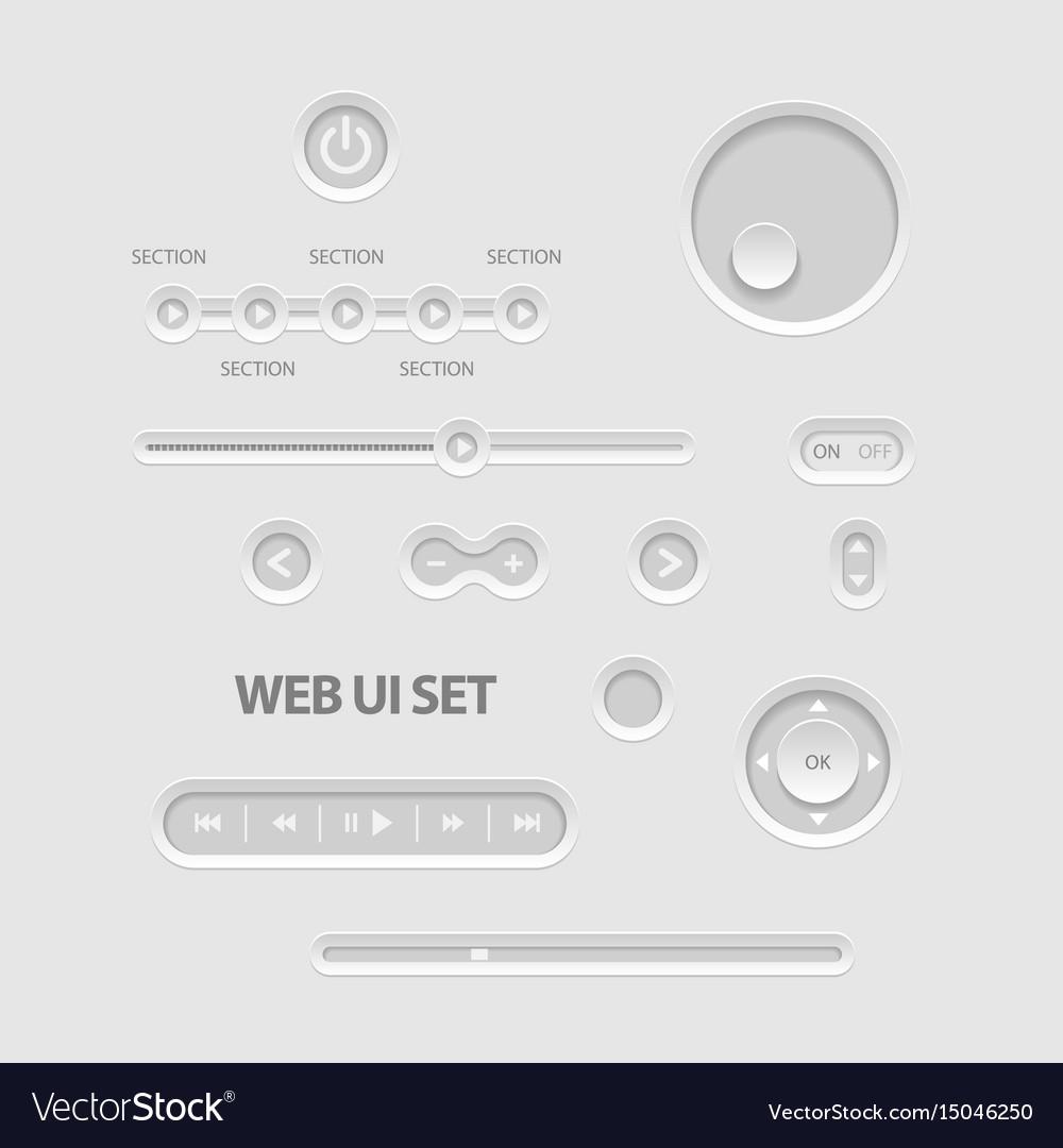 Dark web ui elements