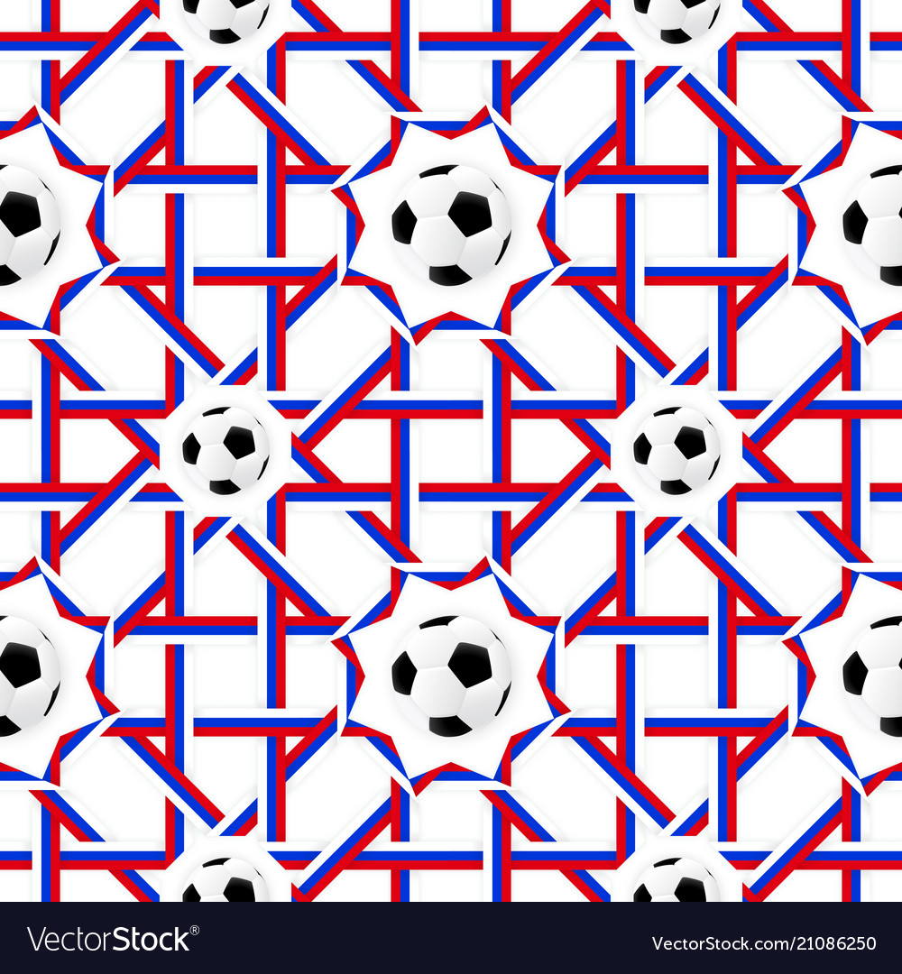 Football banner russian colors seamless pattern