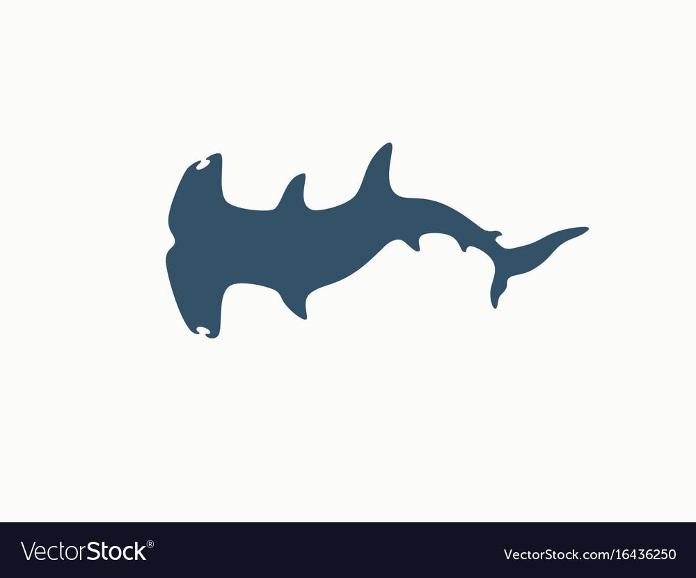 Hammerhead shark logo vector image