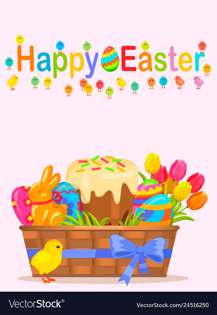 Happy easter flyer or concept