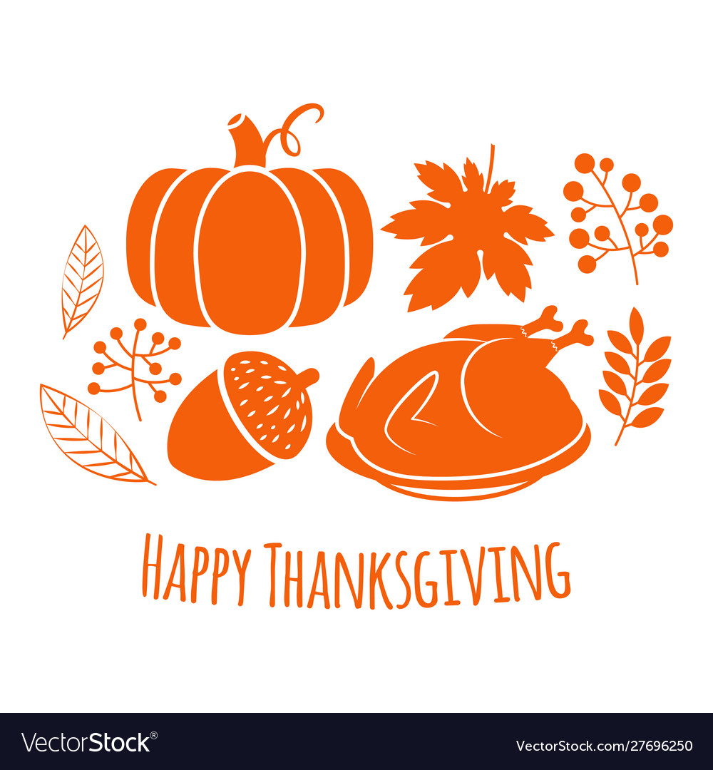 Happy thanksgiving autumn background