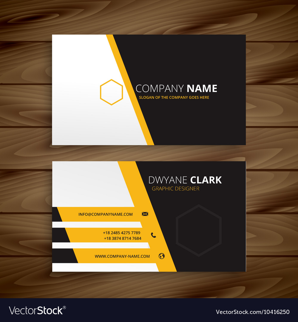 Modern business card template royalty free vector image modern business card template vector image accmission Gallery