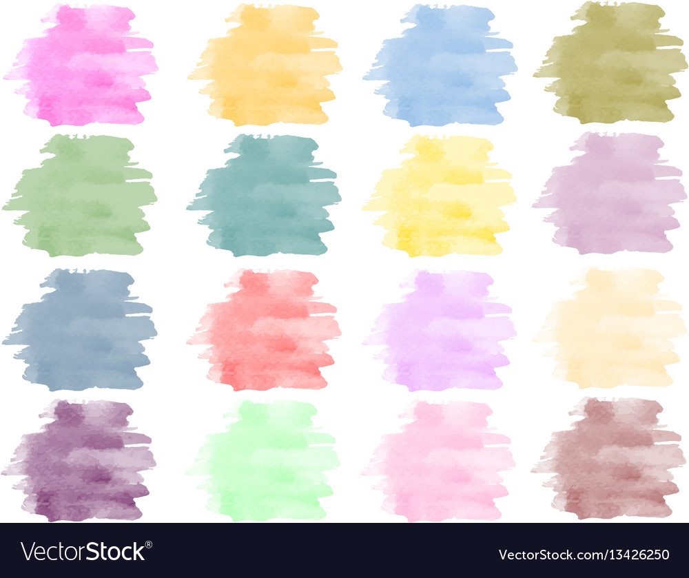 Watercolor background set