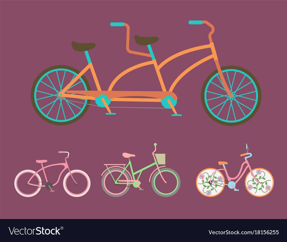 Bicycles vintage style old bike transport
