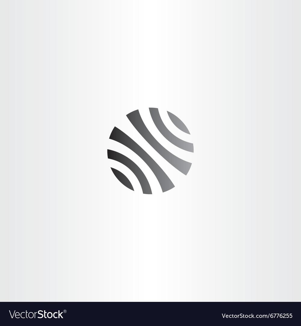 Black circle globe business logo icon