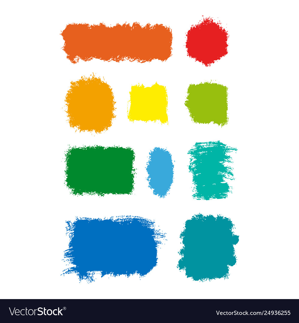 Colorful ink stains