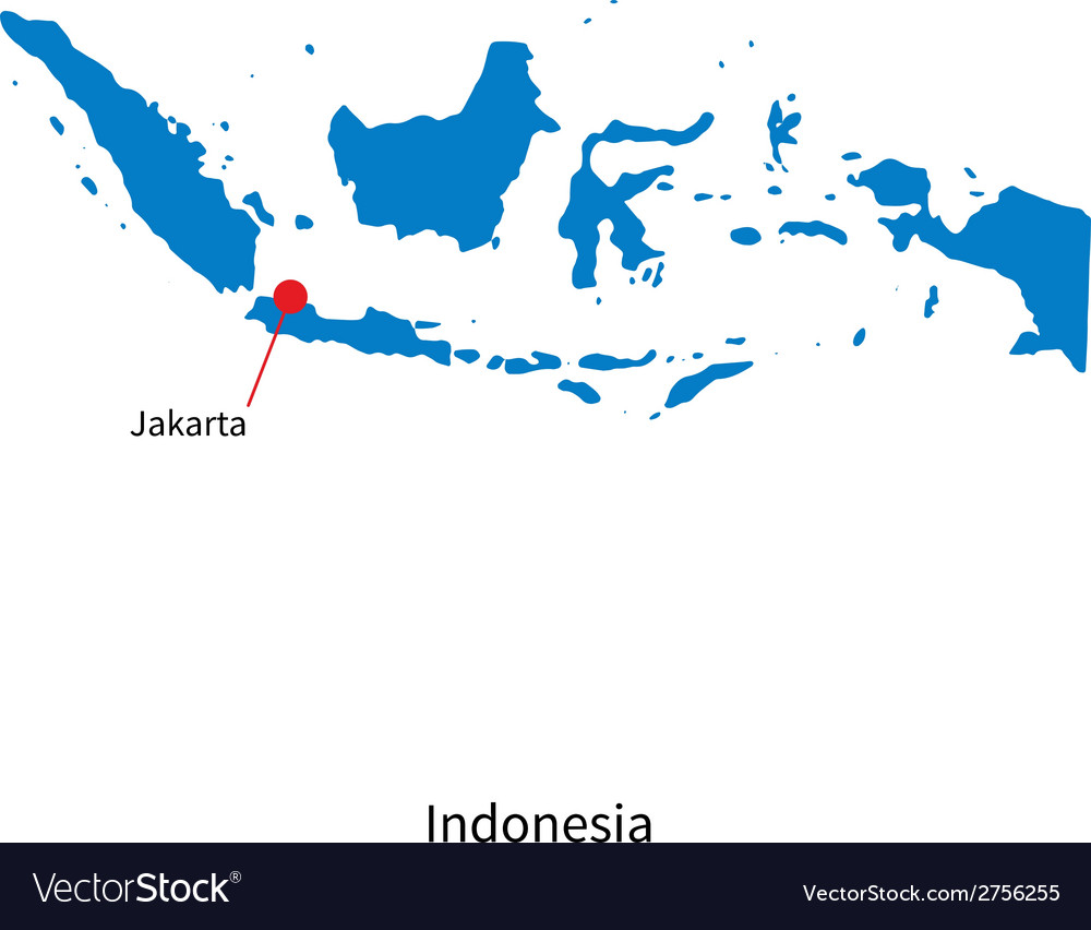 Detailed map of Indonesia and capital city Jakarta