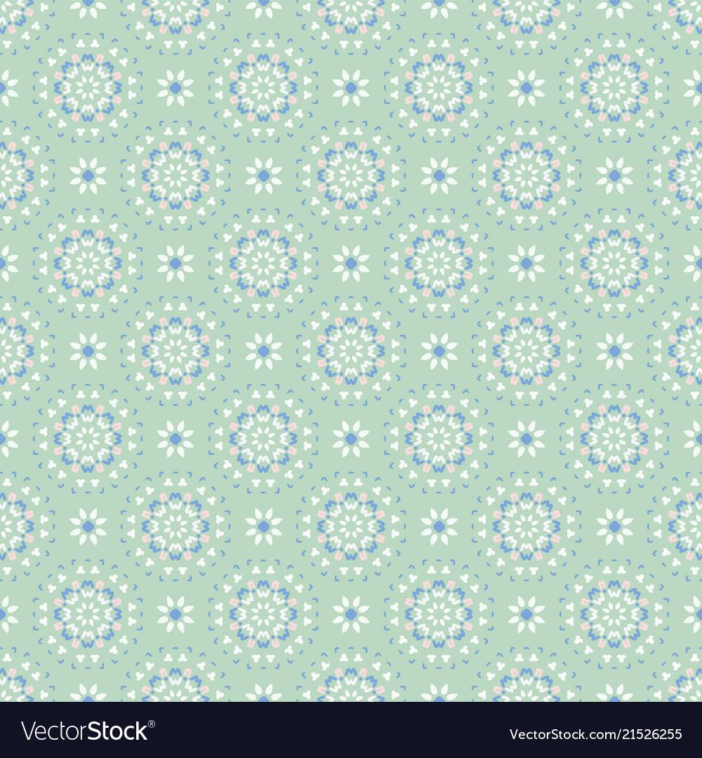 Flower pastel daisies pattern seamless blue