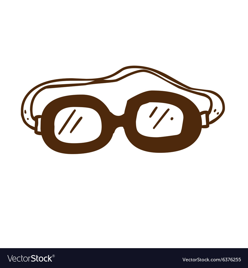 Hand Drawn Safety Glasses