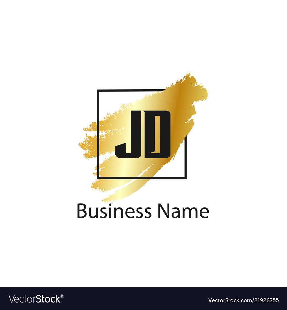 initial letter jd logo template design royalty free vector vectorstock
