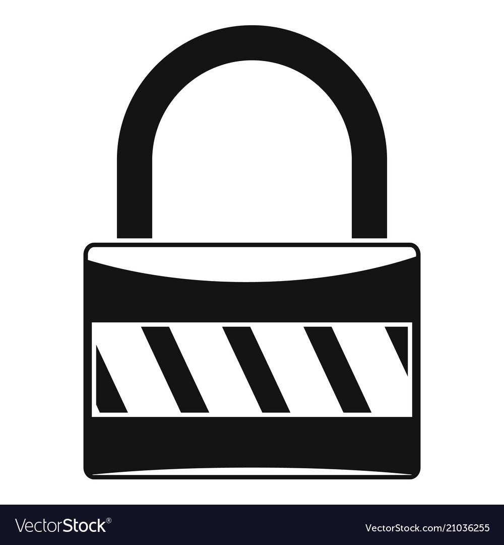Lock icon simple style