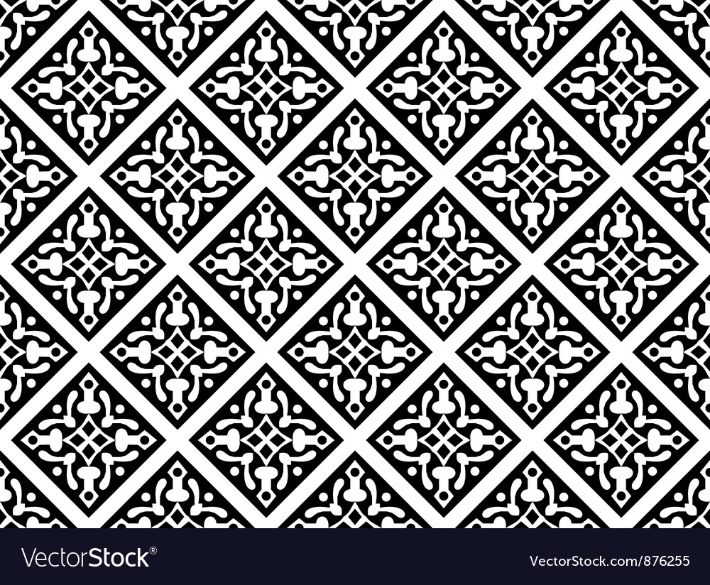 Seamless geometrical gothic floral pattern