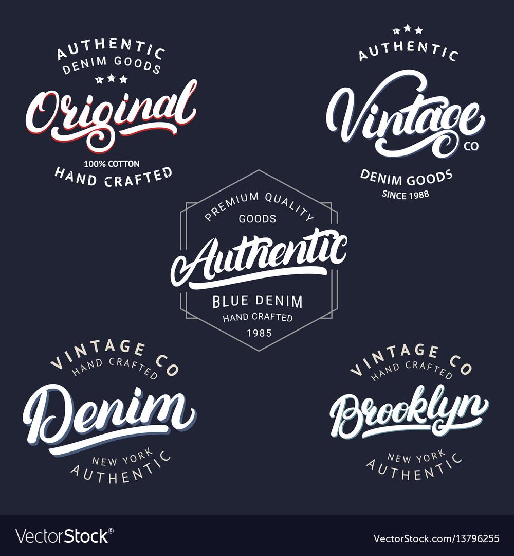 Set of vintage brooklyn denim original