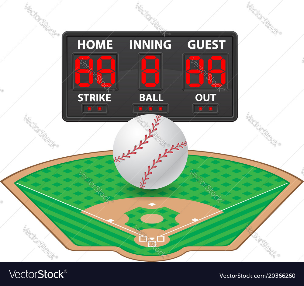Baseball sports digital scoreboard