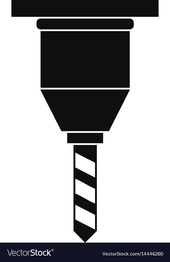 Drill bit icon simple style vector image