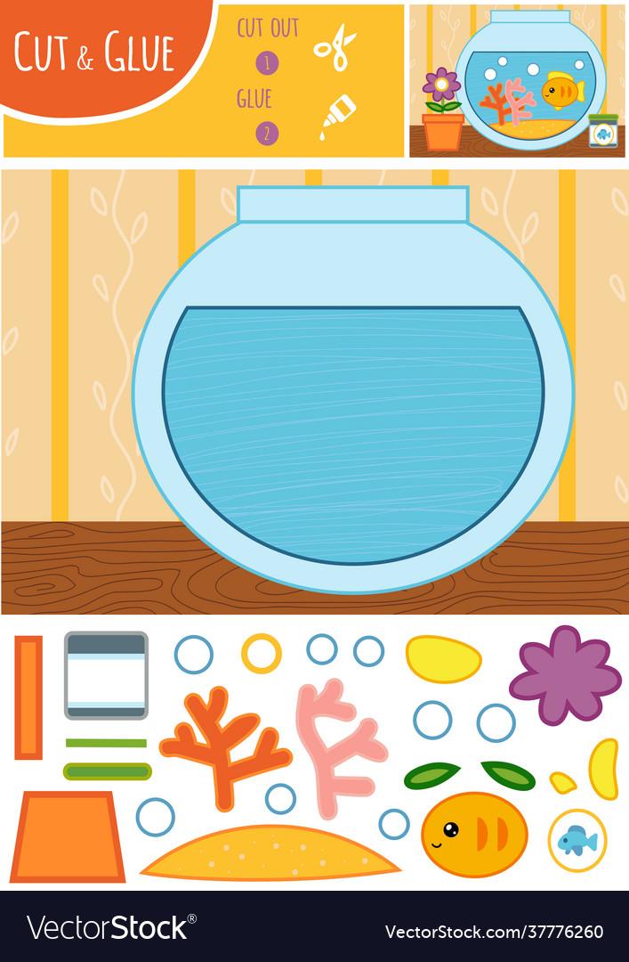 Education paper game for children goldfish