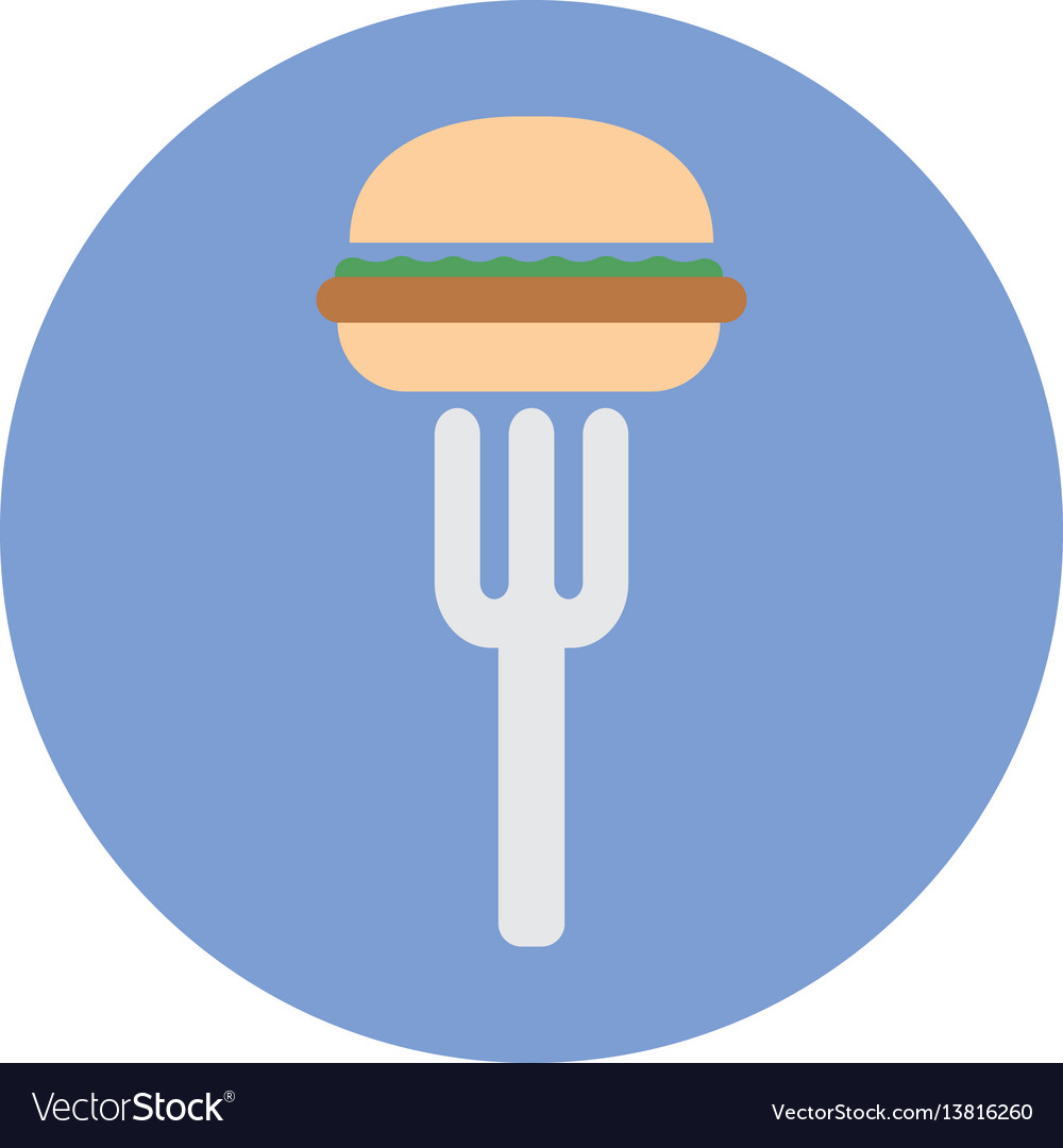 Junk fast foods icon vector image