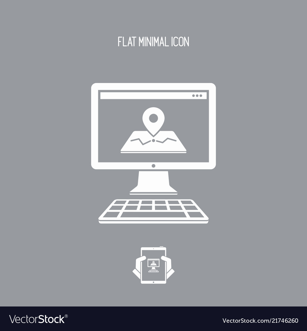 Map application flat icon