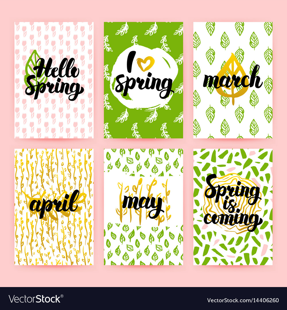 Spring greetings trendy brochures