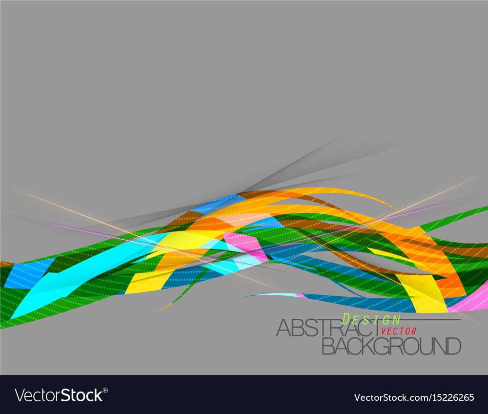 Abstract multicolored curve scene