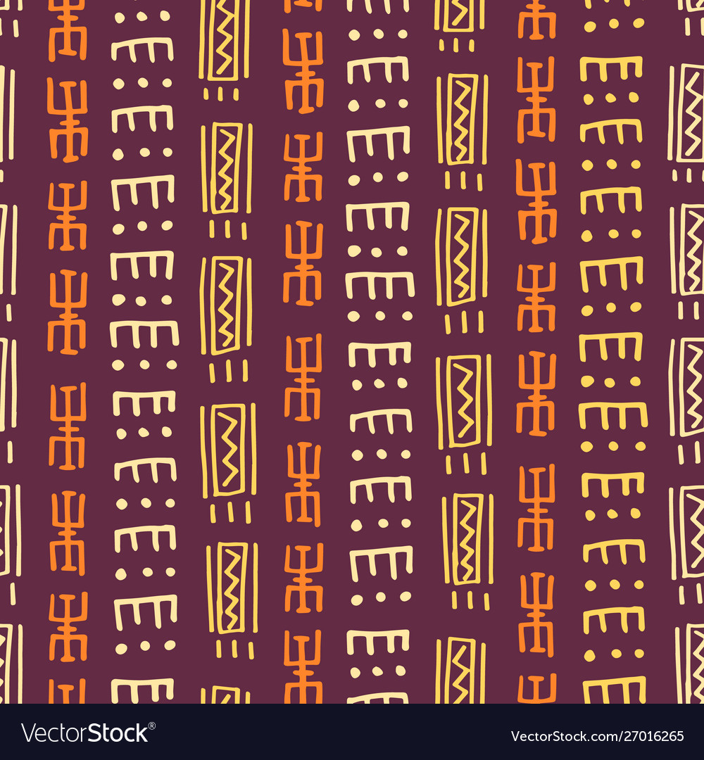 African seamless pattern ethnic aztec ornament