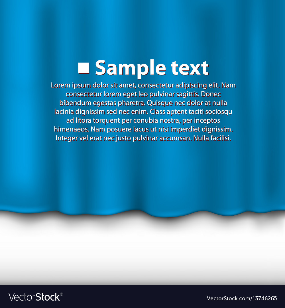 Curtain of blue color vector image
