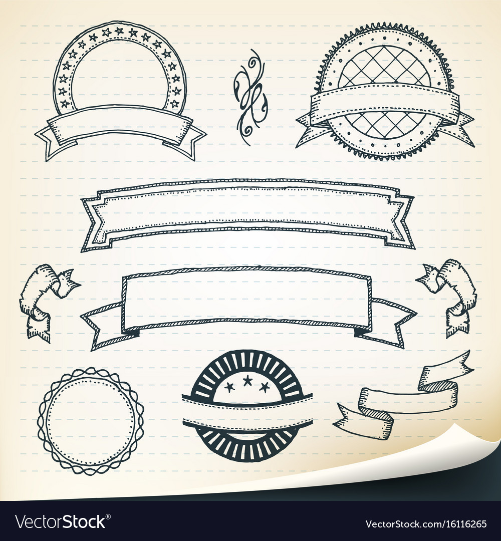 Doodle banners and design elements