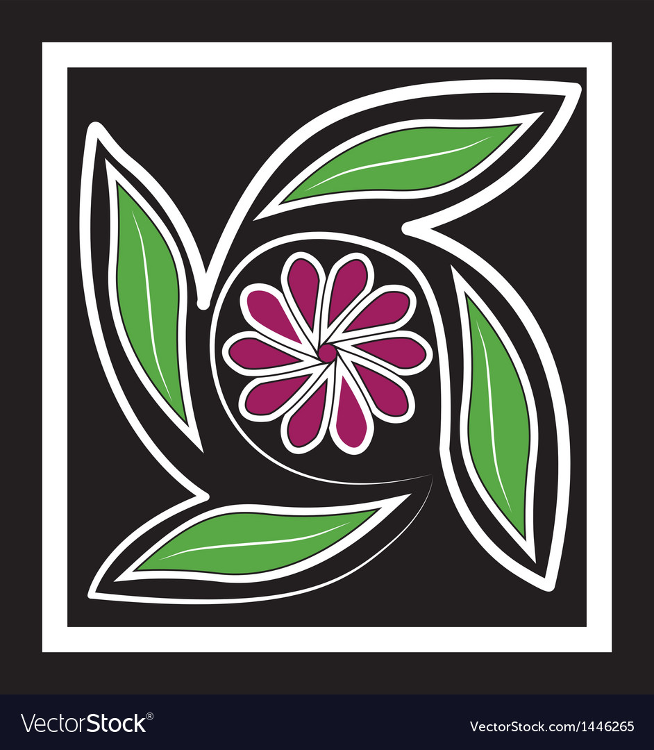 Flower vintage retro background logo icon vector image