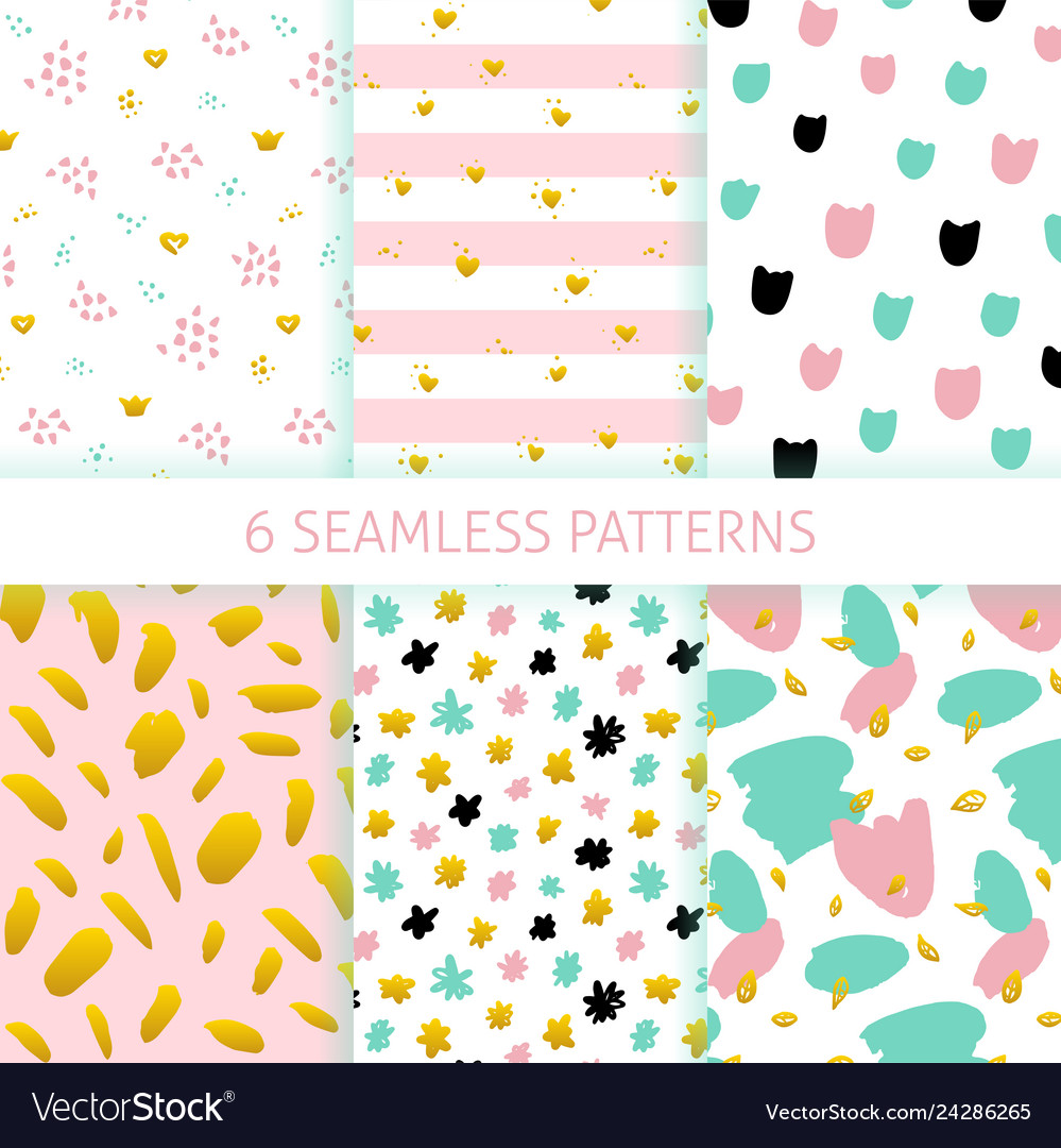Mothers day hipster trendy seamless patterns