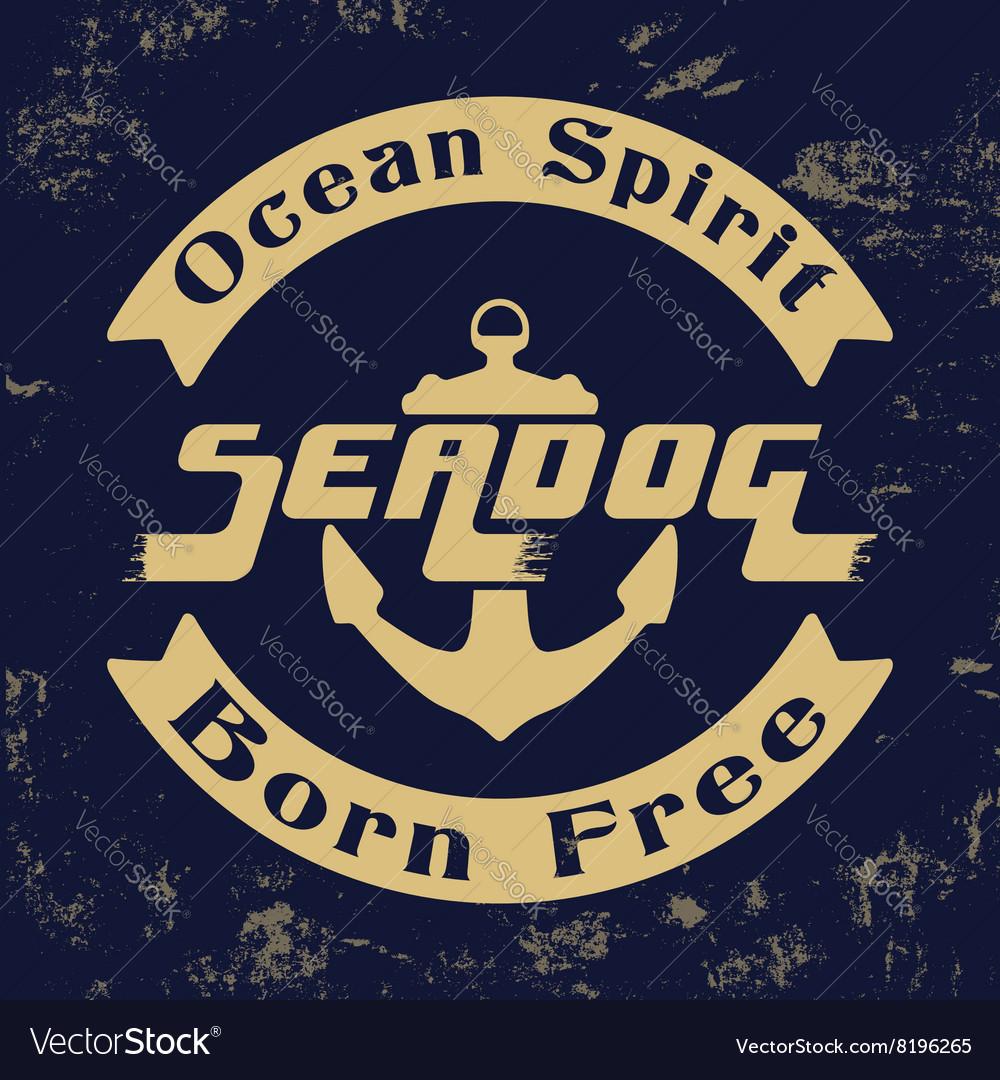 Ocean spirit vintage stamp