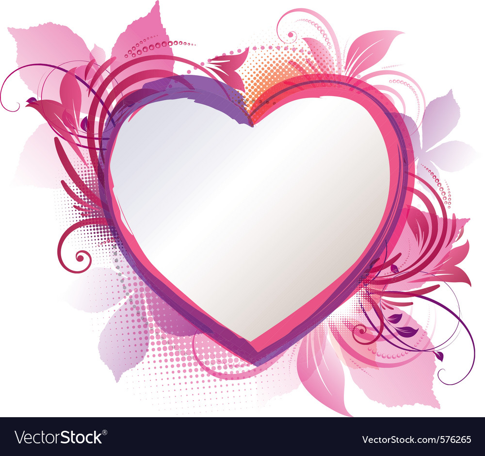 pink floral heart background royalty free vector image rh vectorstock com heart background photos heart background images hd
