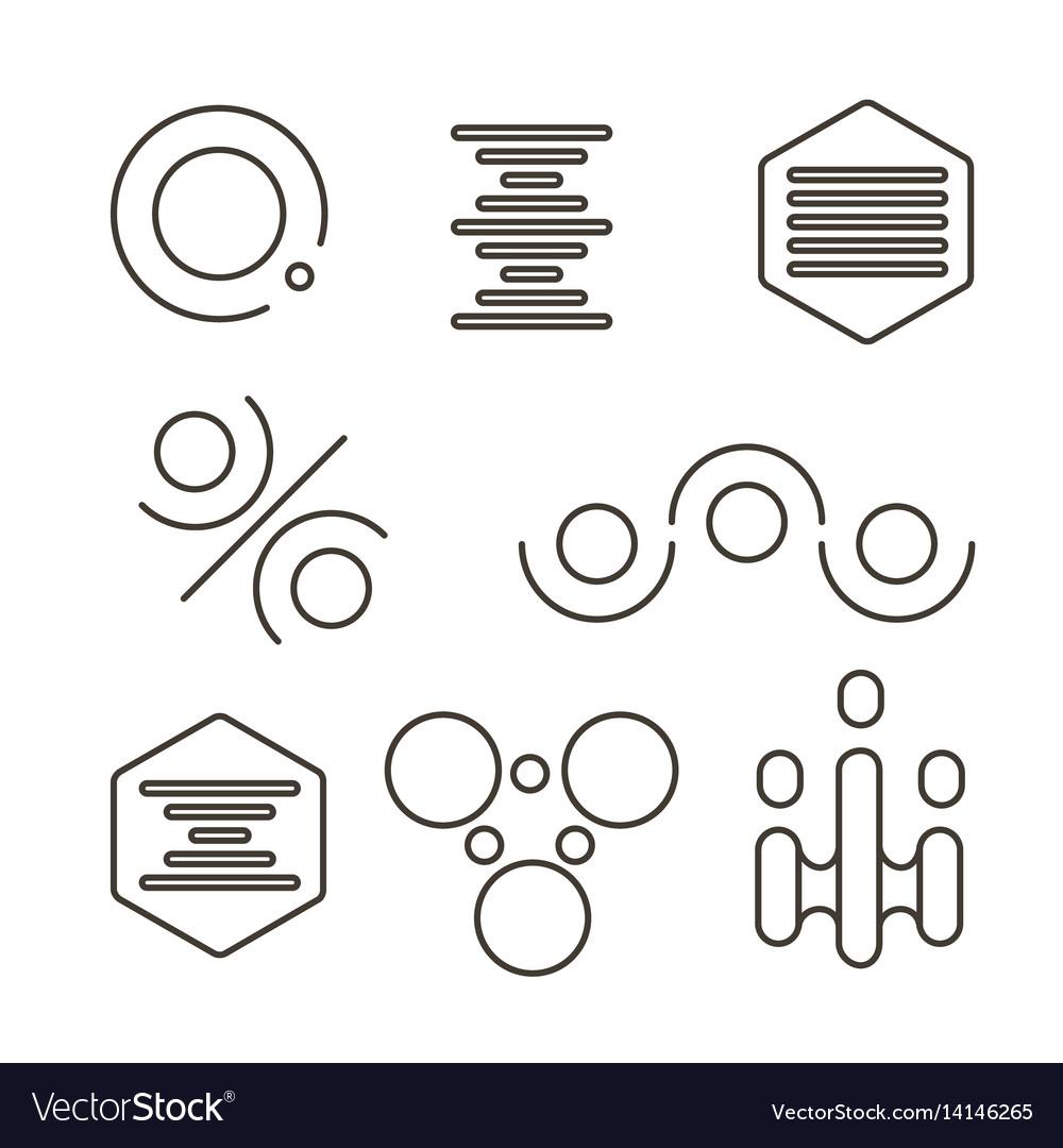 Simple science logo set vector image