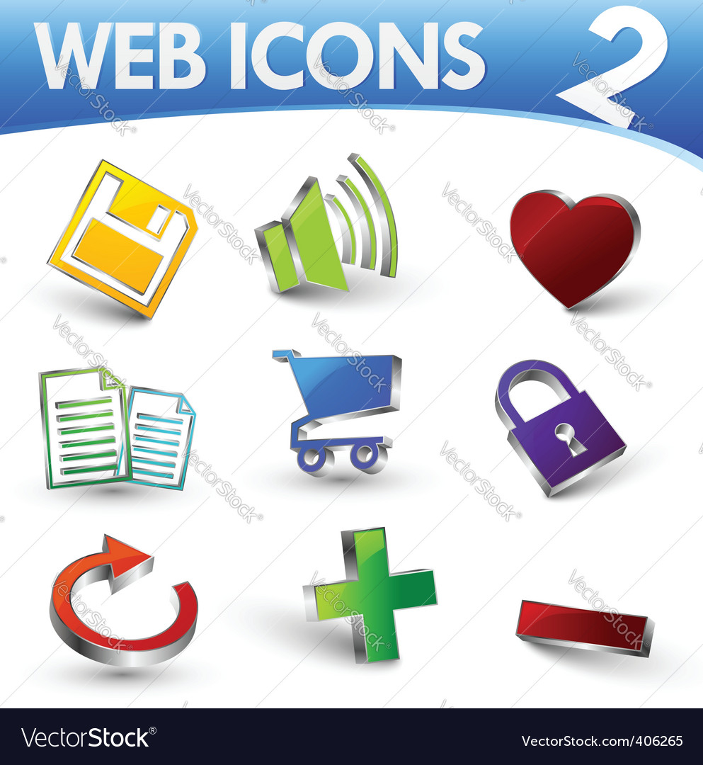 Web icons 2 vector image