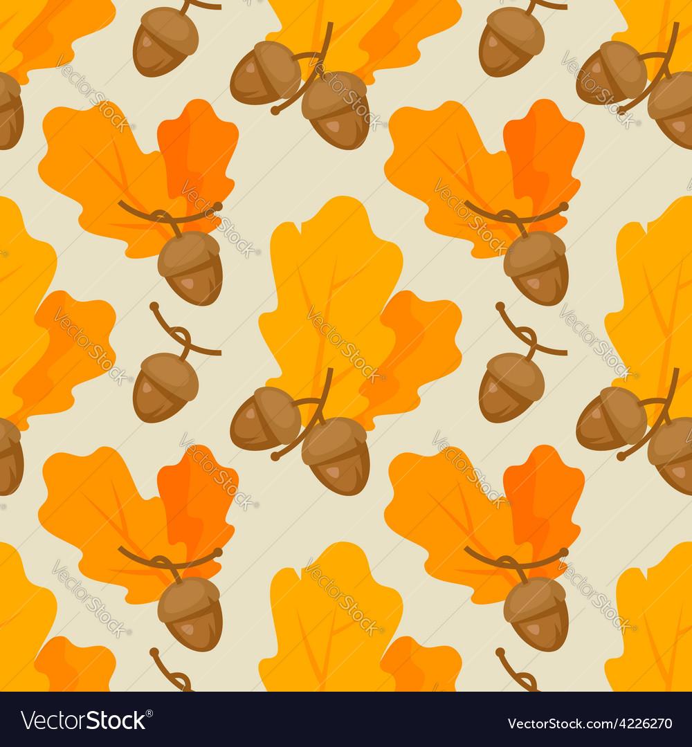 Autumn oak acorn pattern